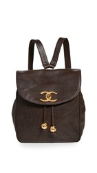 Wgaca What Goes Around Comes Around Chanel Brown Caviar Backpack