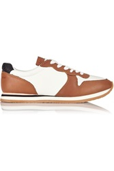 See By Chloe Leather And Mesh Sneakers