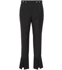 Givenchy Mohair And Wool Cropped Pants Black