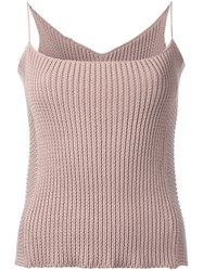 Theatre Products Knitted Cami Top Women Cotton Polyester One Size Nude Neutrals