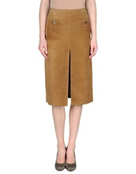 Couture Du Cuir Leatherwear Leather Skirts Women Camel