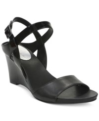Tahari Fun Strappy Wedge Sandals Women's Shoes Black