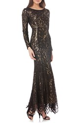 Js Collections Women's Metallic Mermaid Gown