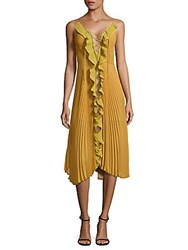 Delfi Collective Gwen Lace Up Midi Dress Yellow