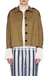 Burberry X Barneys New York Women's Stretch Cotton Military Jacket Green