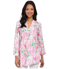 Lilly Pulitzer Sarasota Tunic Prep Green Pink Colony Women's Blouse