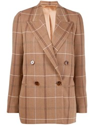 Acne Studios Double Breasted Masculine Blazer Brown