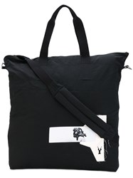 Rick Owens Drkshdw Patches Shopping Bag Unisex Cotton Nylon One Size Black