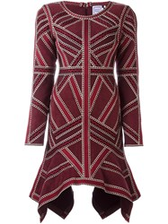 Herve Leger 'Carlotta' Dress Red