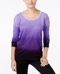 Ideology Long Sleeve Dip Dyed Top Only At Macy's Night Iris