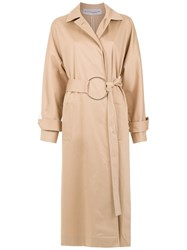 Gloria Coelho Belted Trench Coat Neutrals