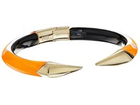 Alexis Bittar Mirrored Pyramid Brake Hinge Bracelet Neon Orange Clear Bracelet