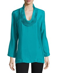 Josie Daray Tunic Top Sea Green