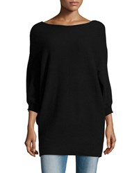Velvet Kizzy 3 4 Sleeve Cashmere Sweater Black Women's