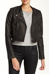 Members Only Asymmetrical Faux Leather Moto Jacket