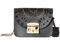 Furla Metropolis Bolero Mini Crossbody C Trafori Onyx Cross Body Handbags Black