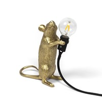 Seletti Mouse Lamp Standing Gold