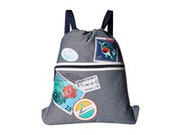 Vera Bradley Beach Backsack Oxford Postage Stamps Backpack Bags White