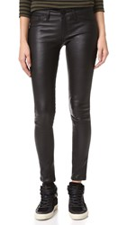 Dl1961 Emma Power Legging Leather And Coated Jeans Poseidon