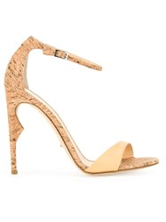 Jerome Rousseau 'Malibu' Open Toe Sandals Brown