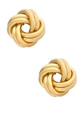 14K Yellow Gold 8.25Mm Love Knot Earrings