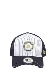 New Era Yankees World Series Cotton Trucker Hat Blue