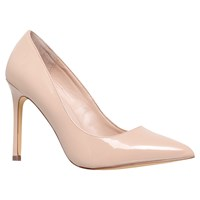 Carvela Kestral High Heel Stiletto Court Shoes Nude Patent