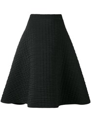 Chalayan Textured A Line Skirt Black