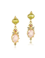 Les Nereides Dazzling Discretion Faceted Glass Drop Earrings