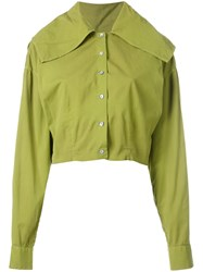 Romeo Gigli Vintage Cropped Jacket Green