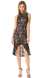 Ali And Jay Lace Sheath Dress With Flared Hem Black