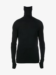 Y 3 Sport Merino Wool Blend Long Sleeve Top Black White
