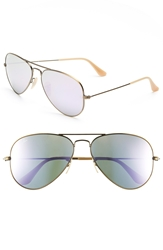 Ray Ban 'Original Aviator' 58Mm Sunglasses Bronze Lilac Mirror