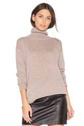 Monrow Cashmere Oversized Turtleneck Sweater Brown