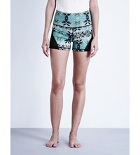 Sweaty Betty Mayurasana Reversible Jersey Yoga Shorts Palm Coast Print
