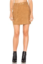 Michael Stars A Line Mini Skirt Cognac