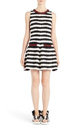 Msgm Women's Stripe Fit And Flare Dress