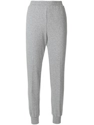 Twin Set Tapered Track Pants Cotton Grey