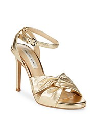 Saks Fifth Avenue Rochelle Leather Pumps Gold