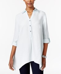 Style And Co Co. Denim High Low Tunic Shirt Only At Macy's Snow Wash