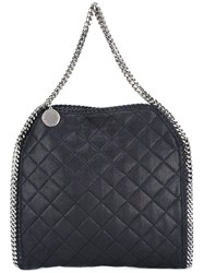 Stella Mccartney Quilted Falabella Foldover Tote Women Artificial Leather One Size Blue