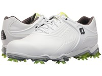 Footjoy Tour S Cleated Tpu Saddle Strap All Over White Men's Golf Shoes