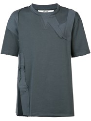 Damir Doma Patch Embroidered T Shirt Men Cotton M Grey