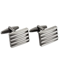 Kenneth Cole Rocket Distressed Stacked Square Cufflinks Silver