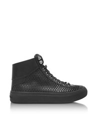 Jimmy Choo Argyle Black Satin High Top Men's Sneakers W Mini Rubber Stars