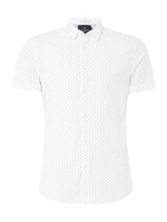 Scotch And Soda Men's Stretch Cotton Shirt Optic White