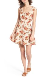 Angie Women's Floral Print Fit And Flare Dress