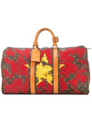 Jay Ahr Vietnam Flag Vintage Louis Vuitton Keepall Red