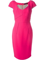 Roland Mouret 'Casson' Dress Pink And Purple