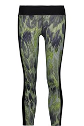 Koral Dynamic Duo Mesh Trimmed Printed Stretch Jersey Leggings Multi